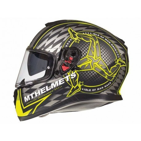 CASCO MT THUNDER 3 SV ISLE OF MAN A3 NEGRO/AMARILLO FLUOR MATTE