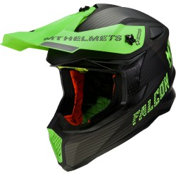 CASCO OFF ROAD MT FALCON SYSTEM D6 VERDE FLUOR MATE