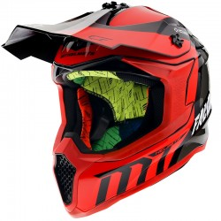 CASCO MT OFF ROAD FALCON WARRIOR C5 GLOSS ROJO